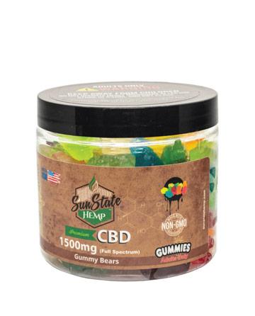 CBD Full Spectrum Gummy Clear Bears 16oz 1500mg