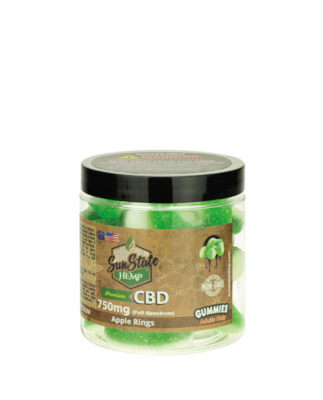 Gummy Full Spectrum Apple Rings 750mg | Sun State Hemp