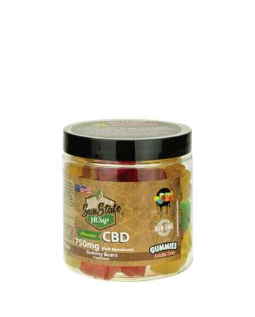 Gummy  Full Spectrum Clear Bears  750mg | Sun State Hemp