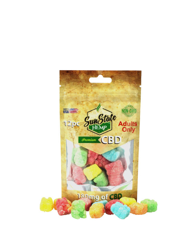 Gummy Bears 180mg - 12 Count Bag | Sun State Hemp