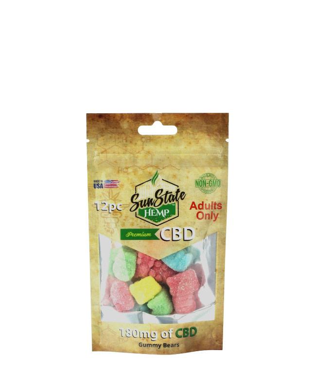 Bag Gummy Sour Bears 180mg - 12 Count