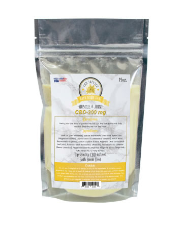 CBD Bath Dust Muscle and Joint Yellow 14oz 200mg  | Sun State Hemp