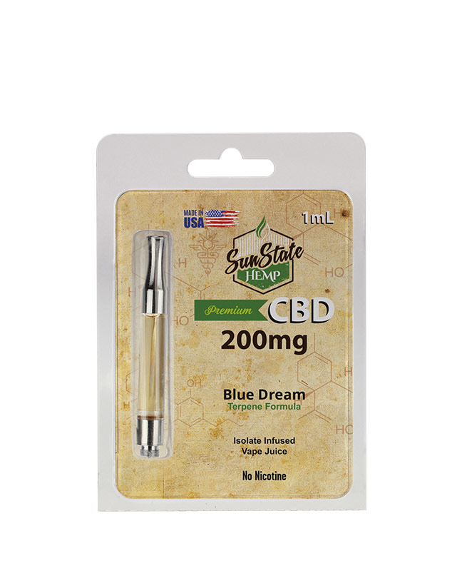 Pre-Filled Cartridge 1ml - Blue Dream 200mg | Sun State Hemp