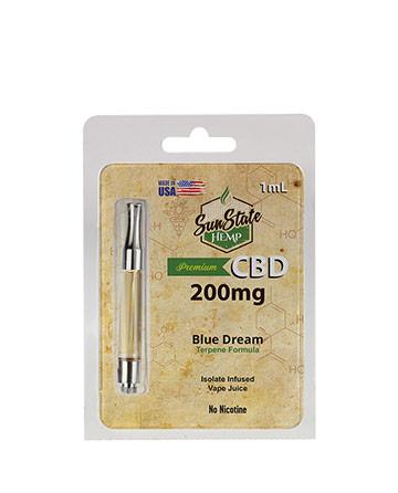 Pre-Filled Cartridge 1ml - Blue Dream 200mg | Sun State Hemp