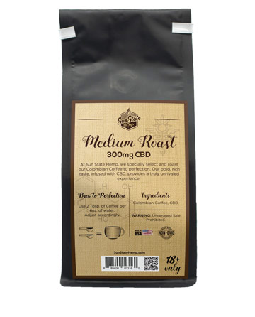 Ground Coffee  8oz 300mg | Sun State Hemp