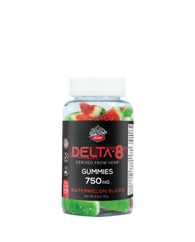 Delta 8 Gummy Watermelon Slices 30ct 750mg