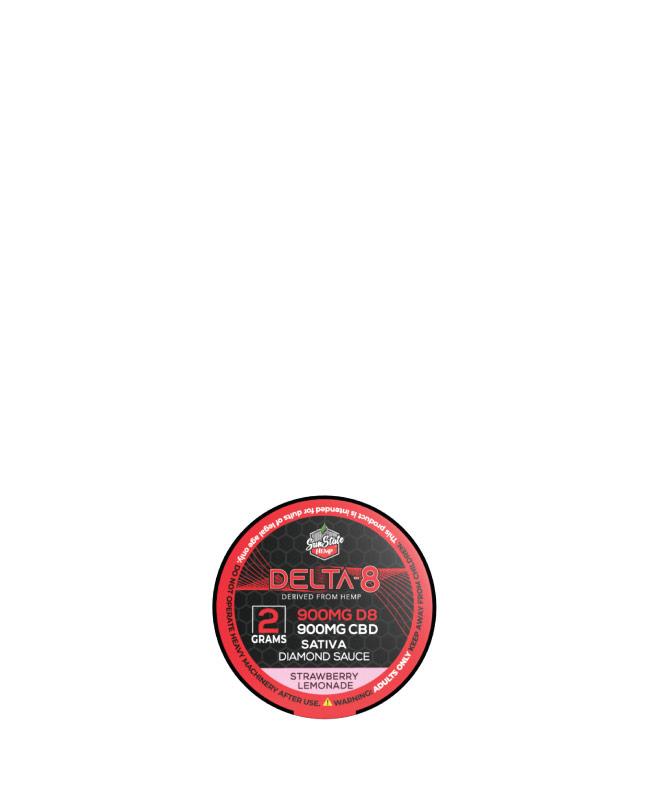 Delta 8 Diamond Sauce Sativa Strawberry Lemonade 2g 1800mg
