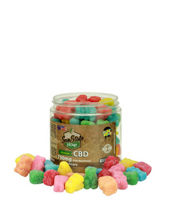 Gummy Full Spectrum Sour Bears 750mg | Sun State Hemp