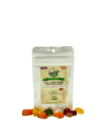 Bag Full Spectrum Gummy Fruit Shapes - 100mg | Sun State Hemp