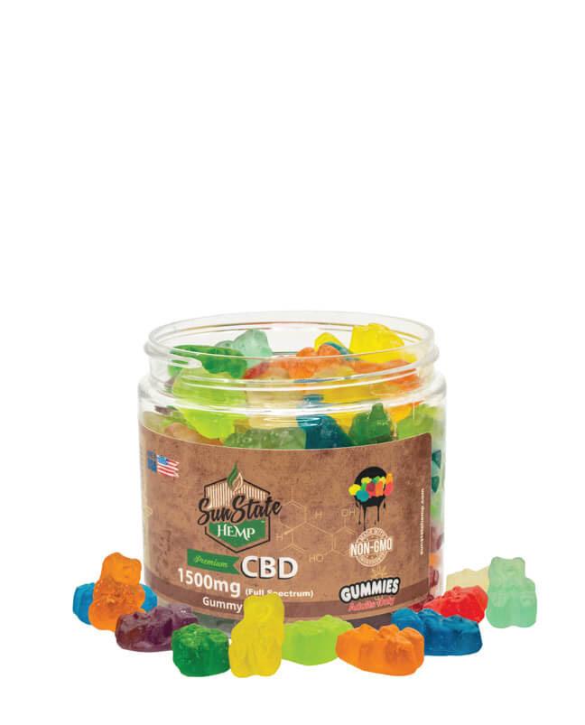 Full Spectrum Gummy Clear Bears 1500mg