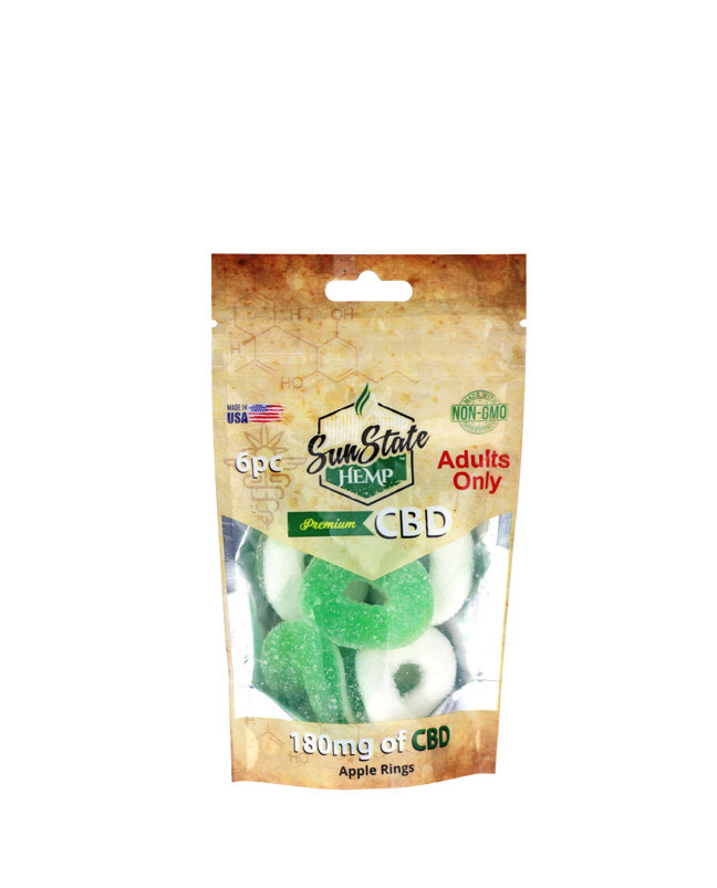 Apple Rings 180mg - 6ct Bag | Sun State Hemp