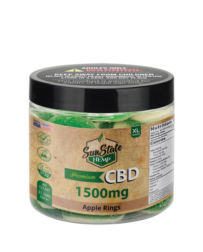 CBD Gummy Apple Rings 16oz 1500mg