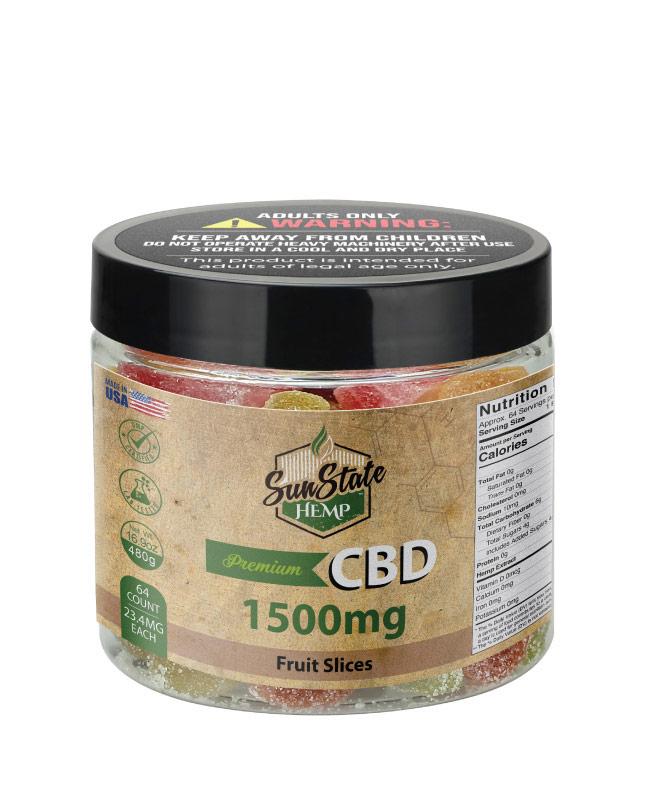 CBD Gummy Fruit Slices 16oz 1500mg