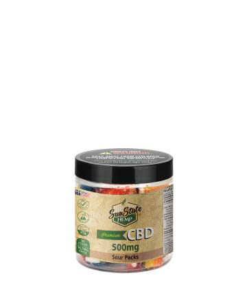CBD Gummy Sour Packs 4oz 500mg