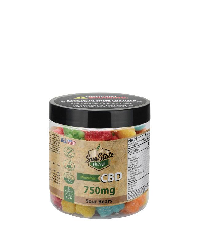 CBD Gummy Sour Bears 8oz 750mg