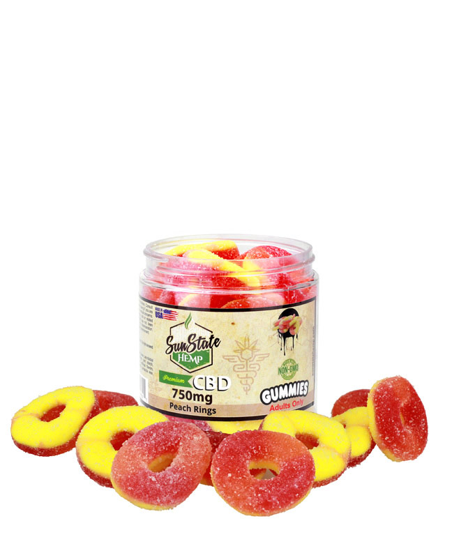 Peach Rings 750mg | Sun State Hemp