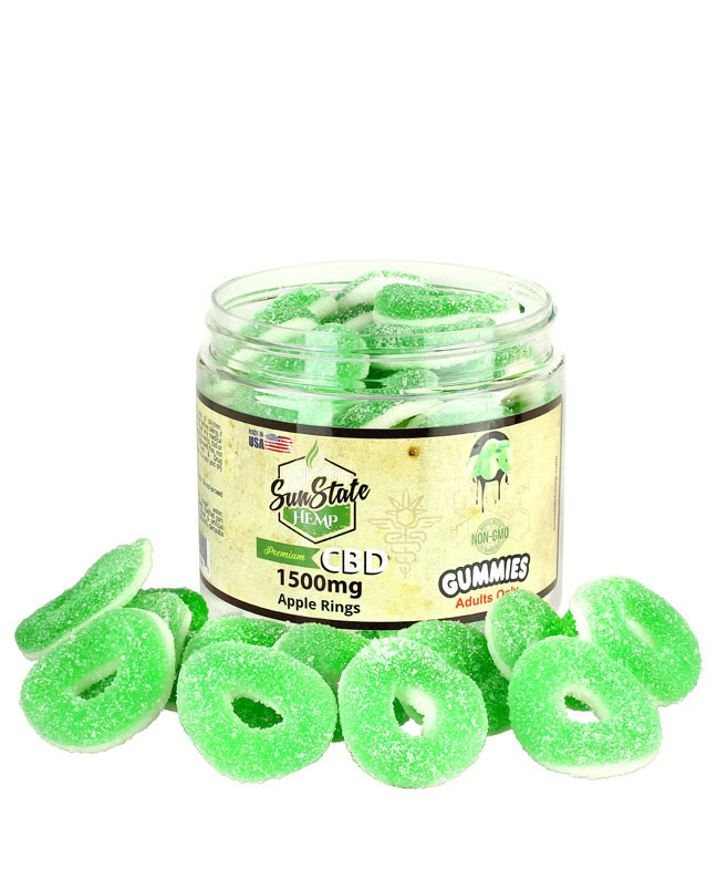Gummy Apple Rings 1500mg