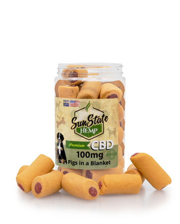 Pet Treats Pigs in a Blanket 100mg / 200mg | Sun State Hemp