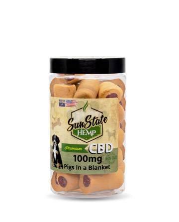 Pet Treats Pigs in a Blanket 100mg | Sun State Hemp