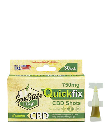 Quick Fix CBD Shots - 30pc 750mg | Sun State Hemp