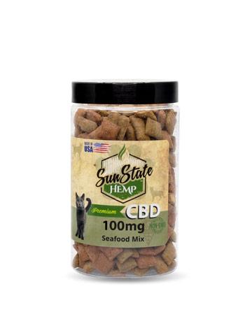 Pet Cat Treats Seafood Mix 100mg / 200mg | Sun State Hemp