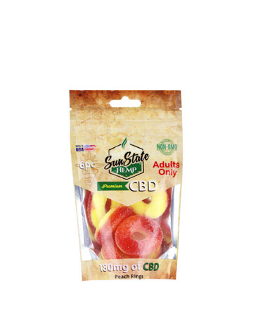 Peach Rings 180mg - 6ct Bag | Sun State Hemp
