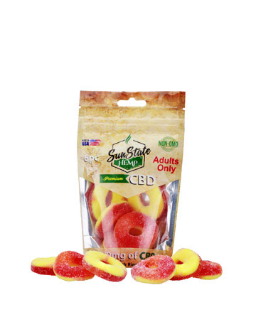 Bag Gummy Peach Rings 180mg - 6pc