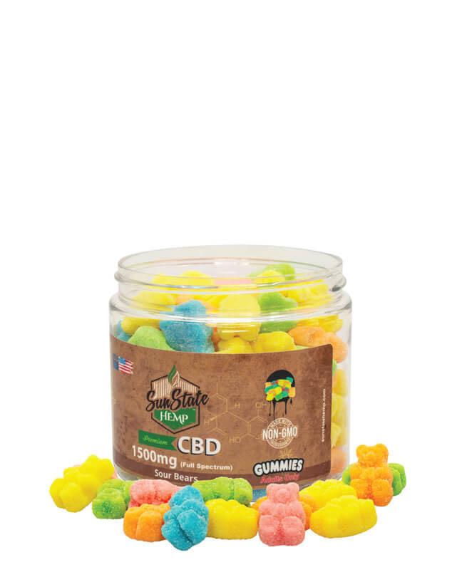 Full Spectrum Gummy Sour Bears 1500mg | Sun State Hemp