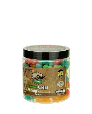 CBD Full Spectrum Gummy Sour Bears 8oz 750mg