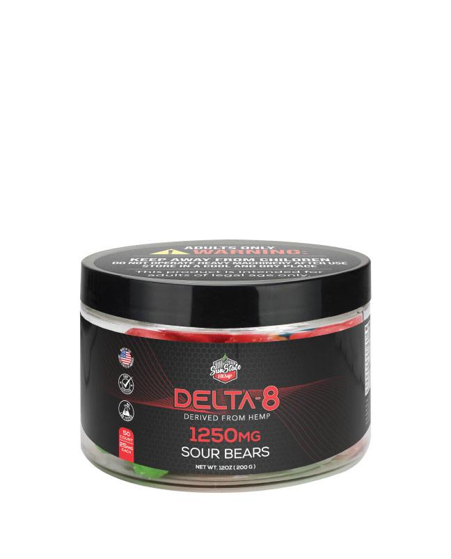 Delta 8 Legacy Gummy Sour Bears 50pcs 1250mg