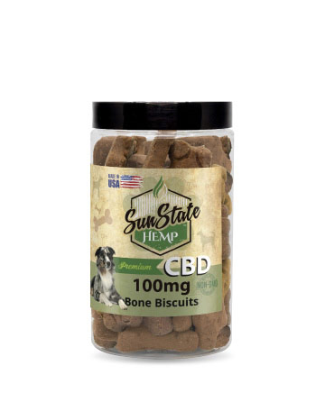Pet Treats Bones 100mg | Sun State Hemp