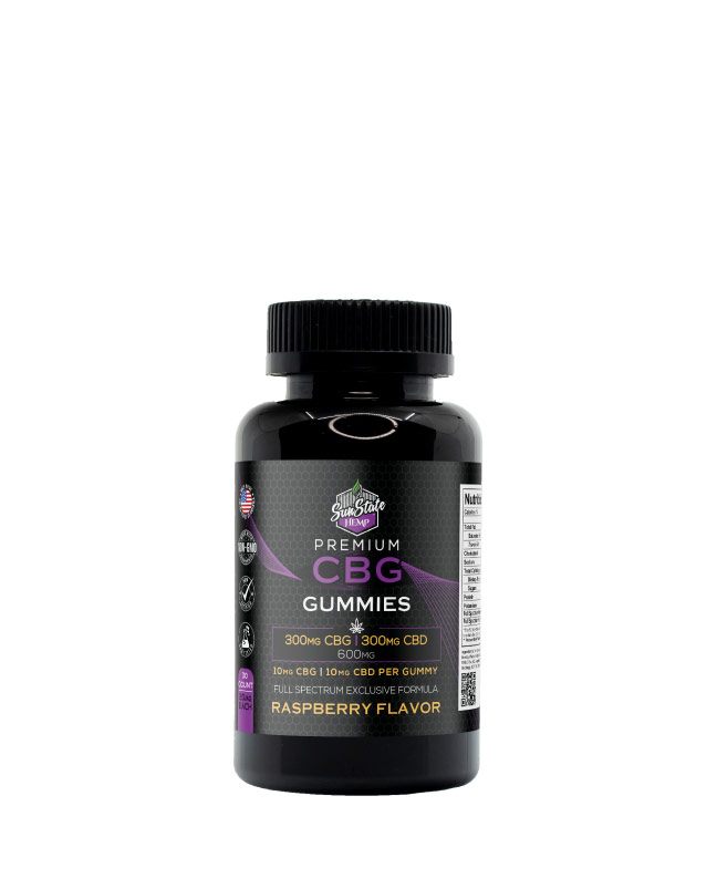 CBG/CBD Full Spectrum Gummy Raspberry 30pcs 600mg