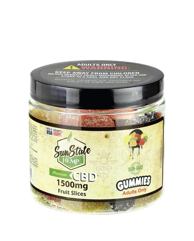 Gummy Fruit Slices 1500mg | Sun State Hemp