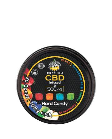 CBD Hard Candy 500mg 50pcs (Isolate, WITH melatonin) | Sun State Hemp