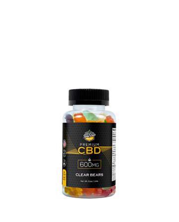 CBD Gummy Clear Bears, 600mg, 1200mg, 1800mg | Sun State Hemp