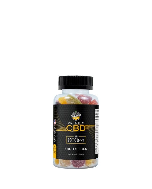 CBD Gummy Fruit Slices 600mg, 1200mg, 1800mg