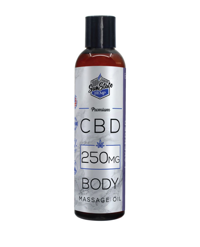 Body Massage Oil 8oz 250mg Lavender (Isolate)