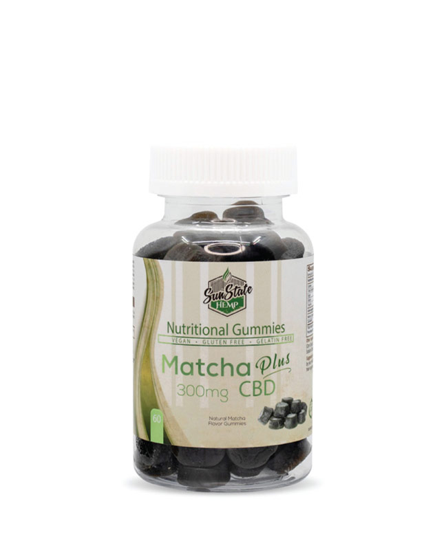 CBD Nutritional Gummy Matcha  60pcs 300mg