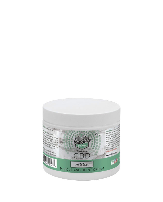 Muscle and Joint Cream 4oz 500mg