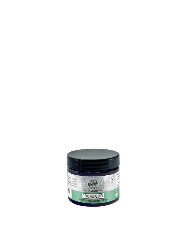 Muscle and Joint CREAM 1oz 100MG | Sun State Hemp