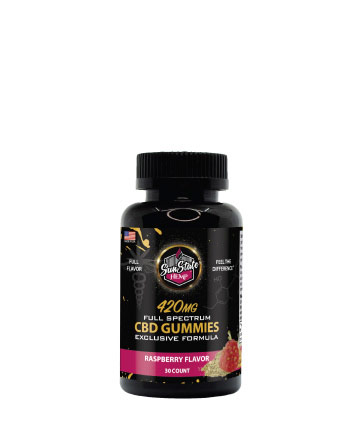 Full Spectrum Exclusive Formula Raspberry Gummy 420mg 30 count | Sun State Hemp