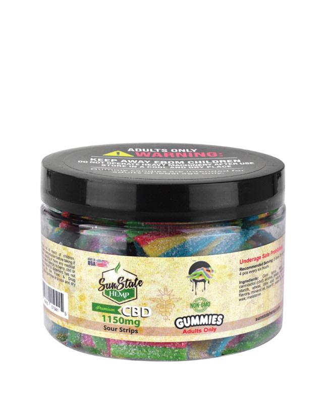 Gummy Sour Strips 1150mg   Sun State Hemp