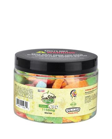 Gummy Sour Worms 1150mg   Sun State Hemp