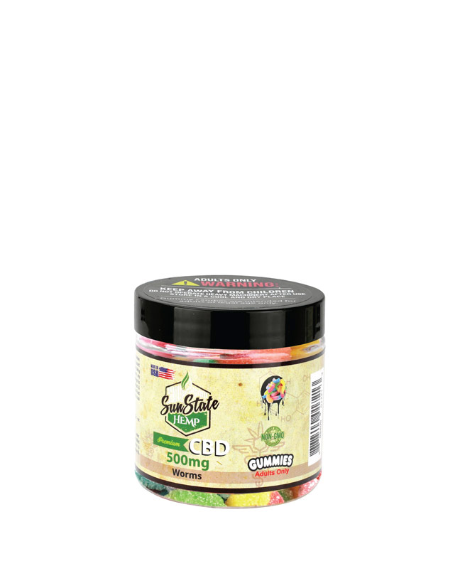 Gummy Worms 500mg | Sun State Hemp