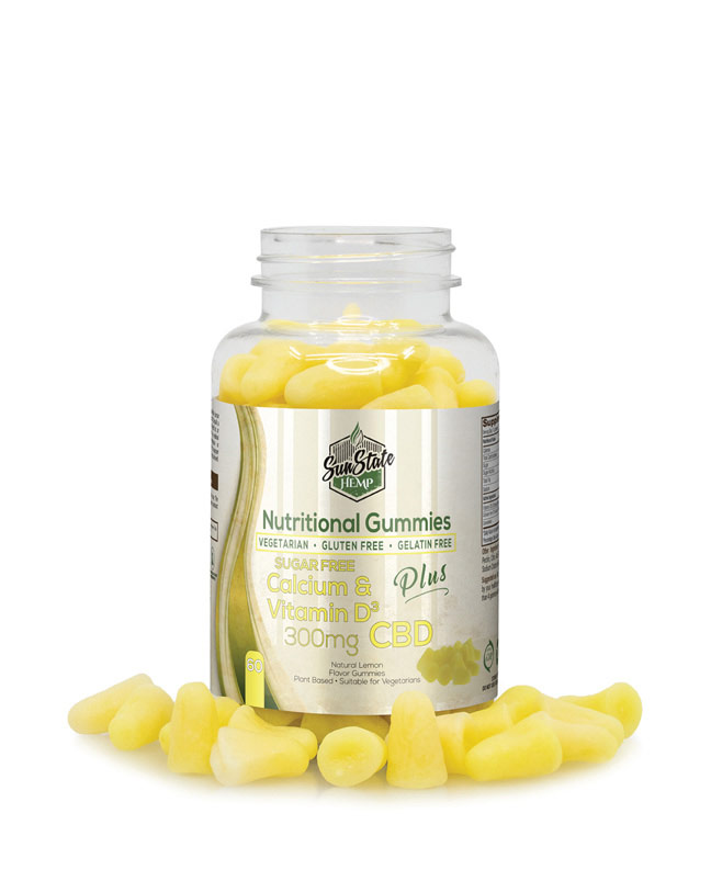 Nutritional Gummy Sugar Free Calcium & Vitamin D - 300mg | Sun State Hemp