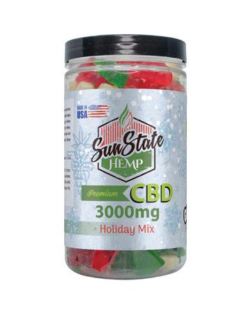 Gummy Holiday Mix Clear 3000mg | Sun State Hemp