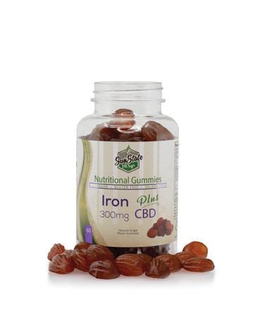Nutritional Gummy Iron - 300mg | Sun State Hemp