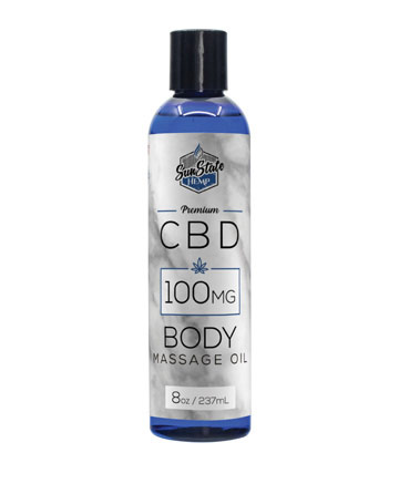 Body Massage Oil  8 oz 100 mg | Sun State Hemp