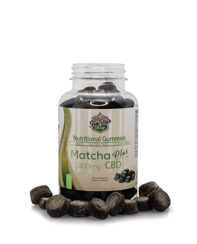 Nutritional Gummy Matcha - 300mg | Sun State Hemp
