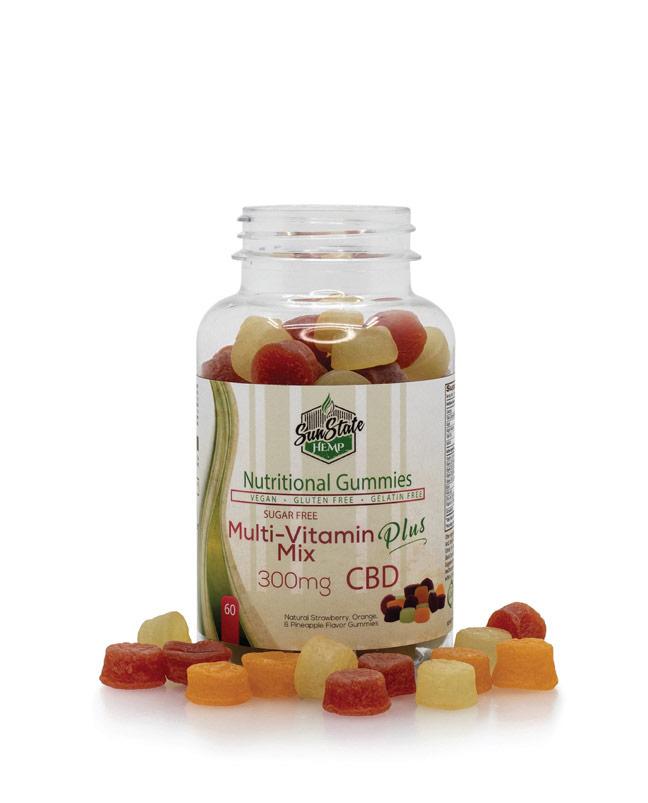 Nutritional Gummy Sugar Free Multi Vitamin Mix - 300mg | Sun State Hemp